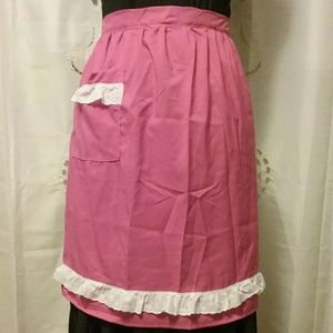 Pink Apron with Pocket